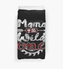 Mama of the Wild One Shirt Lumberjack Woodworker Sawdust Buffalo Plaid measure once plaid pajamas cabinet maker contractor wood timber working tools Bettbezug