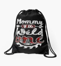 Mommy of the Wild One Shirt Lumberjack Woodworker Sawdust Buffalo Plaid measure once plaid pajamas cabinet maker contractor wood timber working tools Rucksackbeutel