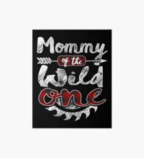 Mommy of the Wild One Shirt Lumberjack Woodworker Sawdust Buffalo Plaid measure once plaid pajamas cabinet maker contractor wood timber working tools Galeriedruck
