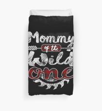 Mommy of the Wild One Shirt Lumberjack Woodworker Sawdust Buffalo Plaid measure once plaid pajamas cabinet maker contractor wood timber working tools Bettbezug