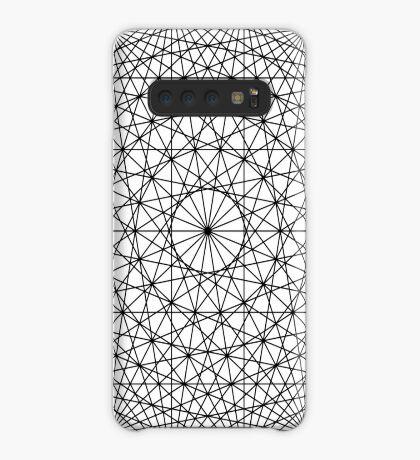 Dynamic Circle Chords II Black Case/Skin for Samsung Galaxy