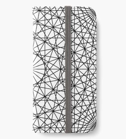 Dynamic Circle Chords II Black iPhone Wallet