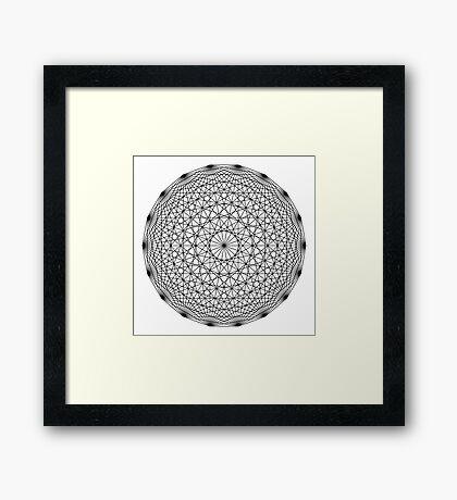 Dynamic Circle Chords II Black Framed Print