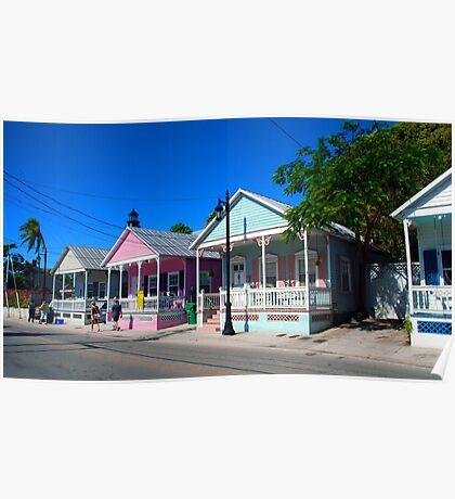 Key West Pastels Poster
