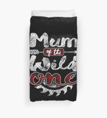 Mum of the Wild One Shirt Lumberjack Woodworker Sawdust Buffalo Plaid measure once plaid pajamas cabinet maker contractor wood timber working tools Bettbezug