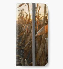 Corn field at sunset iPhone Wallet/Case/Skin