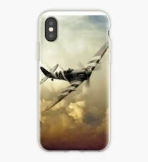 Spitfire Passing Through The Storm  iPhone Case
