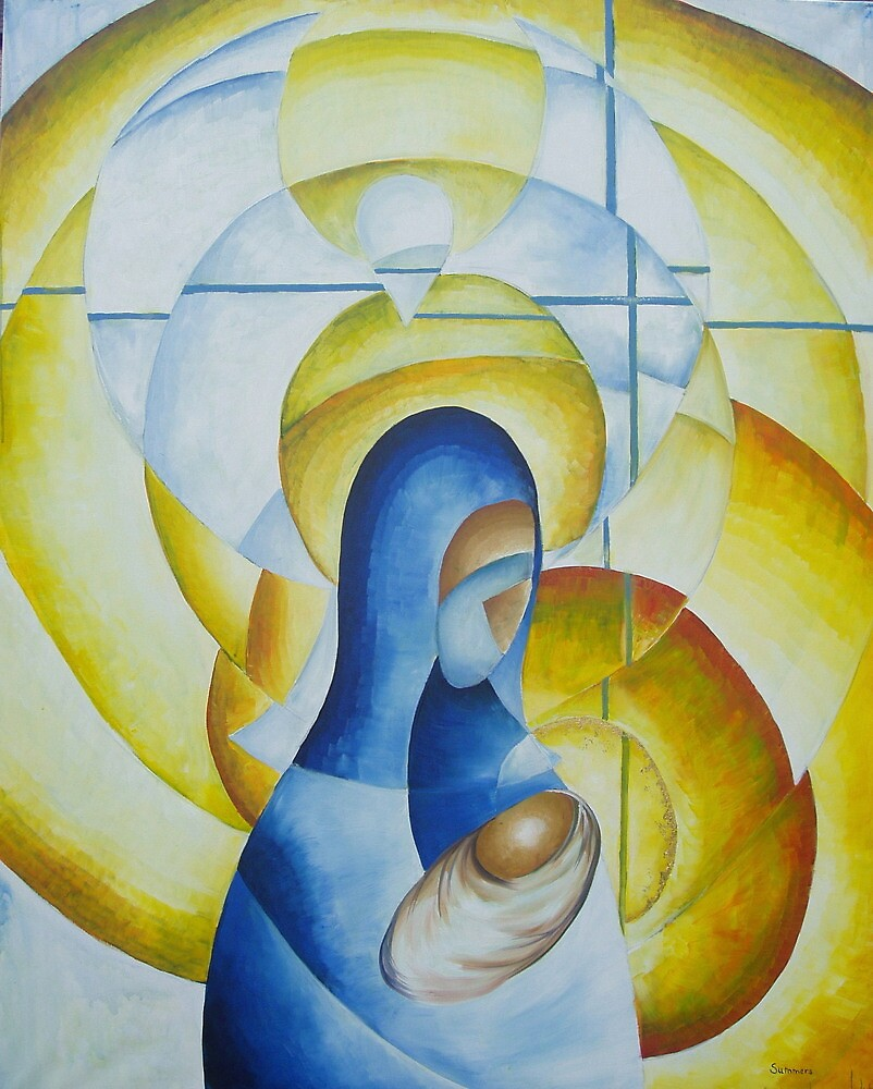 Mary and Child - Advent 4 by Phil Summers