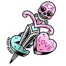 Candy Hearts Skull Dagger by Ella Mobbs