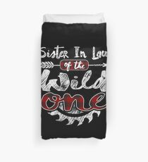 Sister In Law of the Wild One Shirt Lumberjack Woodworker Buffalo Plaid measure once plaid pajamas cabinet maker contractor wood timber working tools Bettbezug