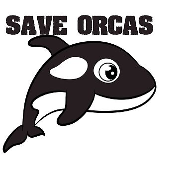 Start the movement of saving the orcas with this adorable tee! Makes a nice and adorable gift too!  by Customdesign200