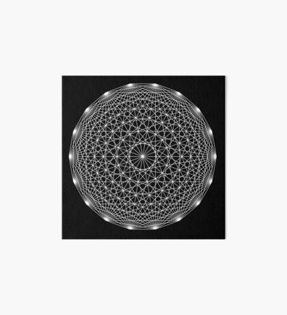 Dynamic Circle Chords II Art Board Print