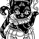 Halloween Black Teapot Jack O Lantern Cat by Ella Mobbs