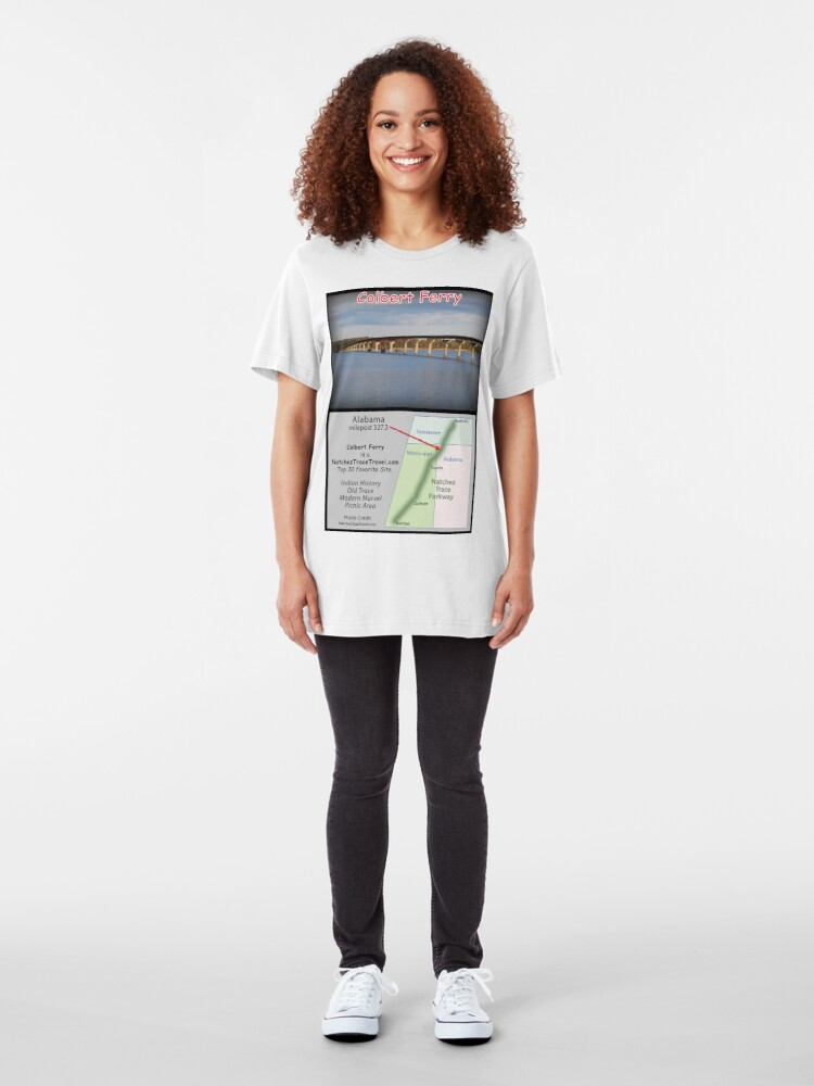 Alternate view of Colbert Ferry on the Natchez Trace Parkway. Slim Fit T-Shirt