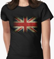Grungy Union Jack Women's Fitted T-Shirt