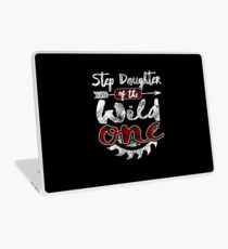 Step Daughter of the Wild One Shirt Lumberjack Woodworker Buffalo Plaid measure once plaid pajamas cabinet maker contractor wood timber working tools Laptop Skin