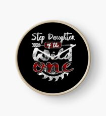 Step Daughter of the Wild One Shirt Lumberjack Woodworker Buffalo Plaid measure once plaid pajamas cabinet maker contractor wood timber working tools Uhr