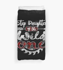 Step Daughter of the Wild One Shirt Lumberjack Woodworker Buffalo Plaid measure once plaid pajamas cabinet maker contractor wood timber working tools Bettbezug