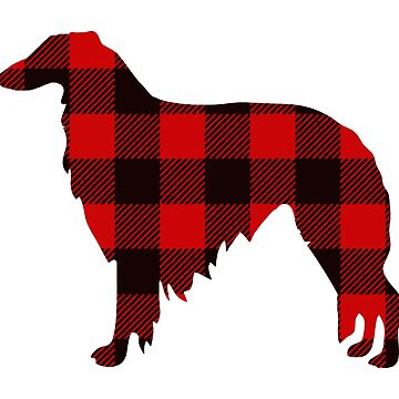 Lodge Borzoi Buffalo Plaid by tcarey