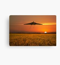 Vulcan Farewell Fly Past Canvas Print