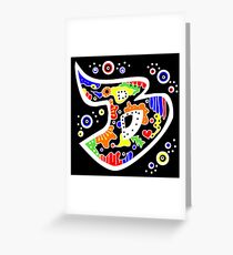 Buchstabe B Grußkarte