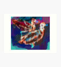 Abstract Duck Art Print