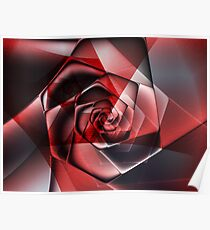 Abstract Spiral Rose Poster