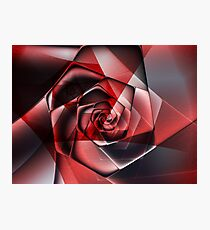 Abstract Spiral Rose Photographic Print
