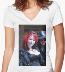 Whitby Goth Weekend 6 Women's Fitted V-Neck T-Shirt