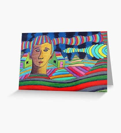 288 - PART OF THE SCENERY - DAVE EDWARDS - COLOURED PENCILS & FINELINERS - 2010 Greeting Card