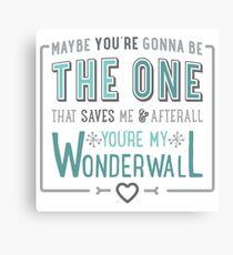 Wonderwall - Oasis - Typography Canvas Print