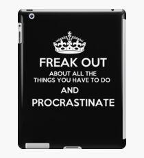 Freak Out and Procrastinate (White) iPad Case/Skin