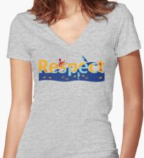 Respect our planet Women's Fitted V-Neck T-Shirt