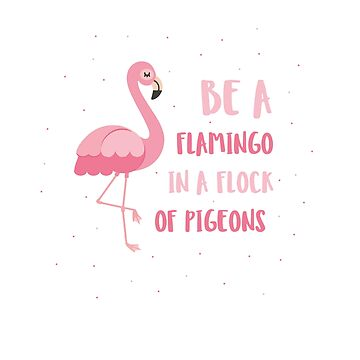 be a flamingo in a flock of pigeons by phil009