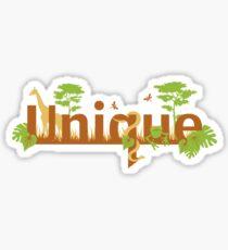 Unique planet safari design Sticker