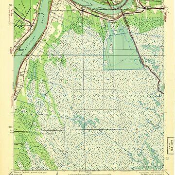 USGS TOPO Map Louisiana LA Belle Chasse 333652 1940 31680 by wetdryvac