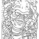 Creature From the Black Lagoon (Sketch version) by Ella Mobbs