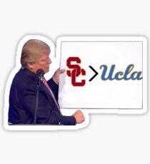 USC > UCLA Sticker