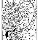 Bride of Frankenstein Linework by Ella Mobbs