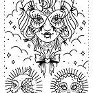 Bat Lady Tattoo Flash by Ella Mobbs