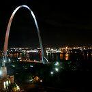 The Gateway Arch by Night by Jennifer Chan
