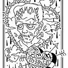 Frankenstein's Creation Sketch by Ella Mobbs
