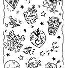 Tattoo Flash Fillers by Ella Mobbs