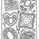 Doily Tattoo Mandala Flash by Ella Mobbs