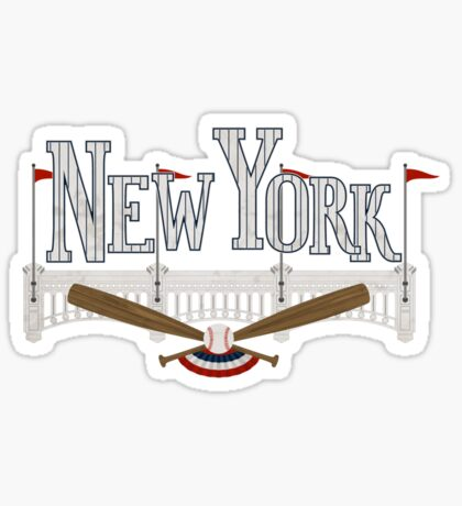 New York Baseball Sticker