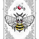 Skull Be Playing Card by Ella Mobbs