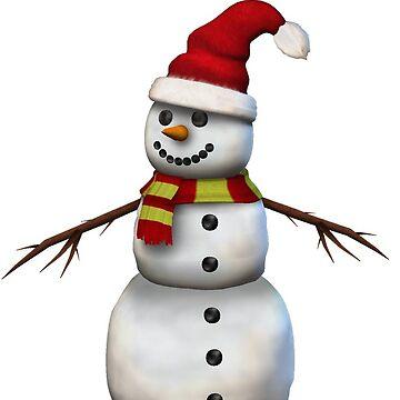 Snowman by ViviennePoet