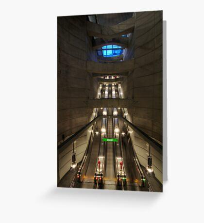 going underground Greeting Card