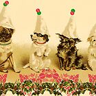 CHRISTMAS PARTY DOGS by Tammera