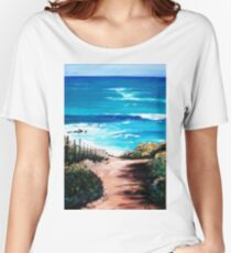 Mornington Peninsula Beach Women's Relaxed Fit T-Shirt